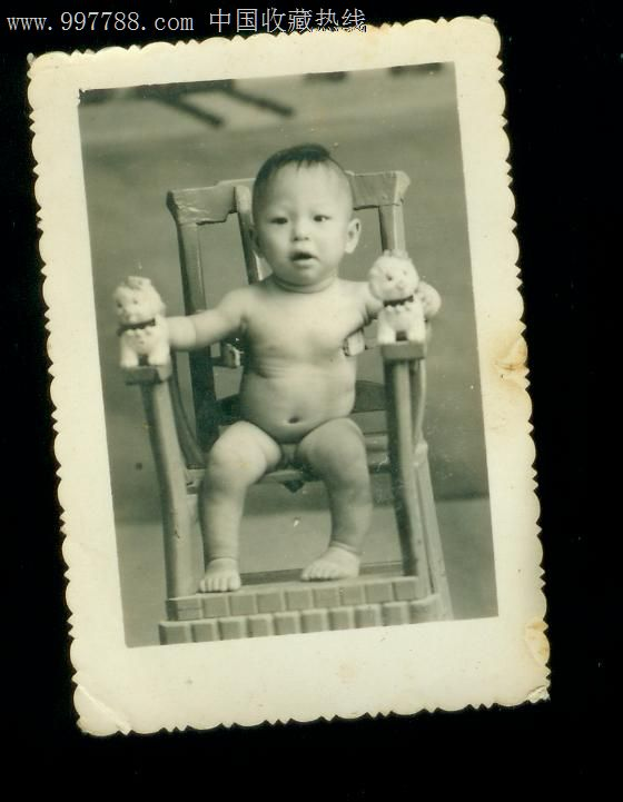 小孩照,老照片,其他,其他,年代不祥,黑白,尺寸不详,无齿边,单张_第1张