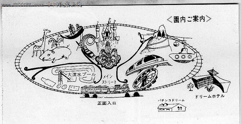 日本著名景点手绘
