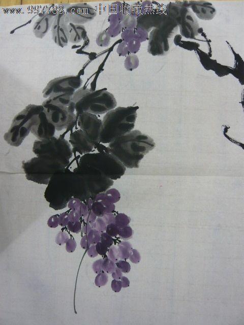 水墨 葡萄2