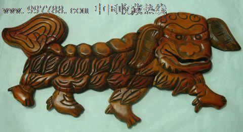 木雕-镇宅狮-桃木_价格590元_第1张_中国收藏热线