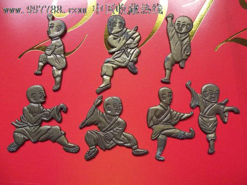 少林十八罗汉,铜像/铜佛像,罗汉铜像,年代不详,其他铜,其他形态,全身