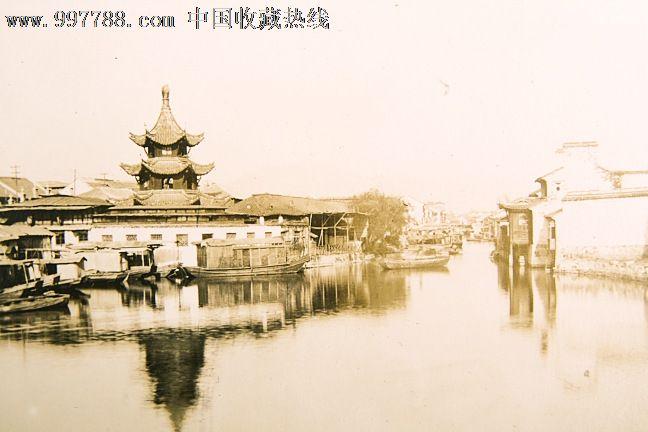 民国南京秦淮河风景老照片