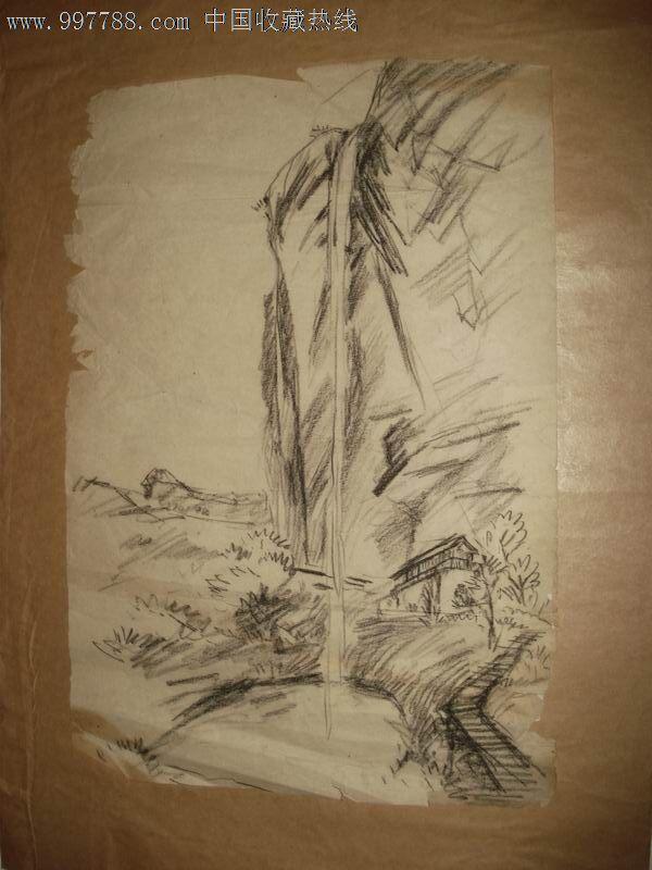 简单的山水铅笔画