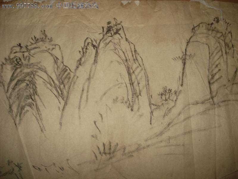 铅笔画怎么画山水步骤