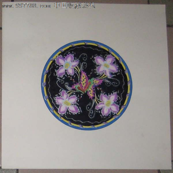 手绘装饰画——花卉09(水粉画)