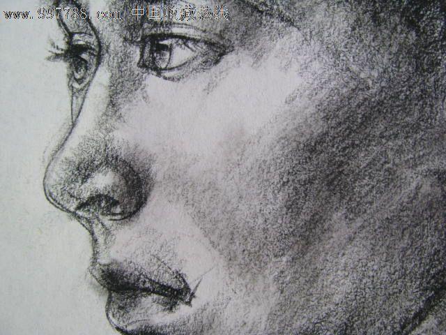 素描头像/少数民族女青年3