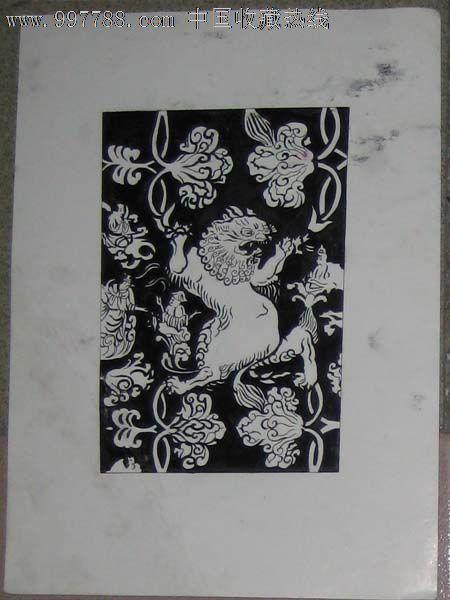 手绘黑白装饰画——狮子或者貔貅