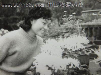 80年淑女赏花全身照,老照片--个人照片,老照虫子美女爬美女图片