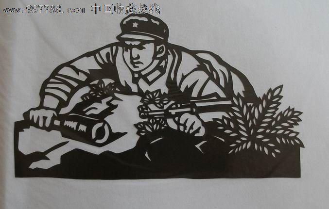 剪纸儿童画风景
