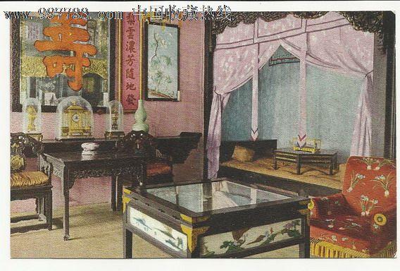 老明信片--万寿山宫殿内景图片