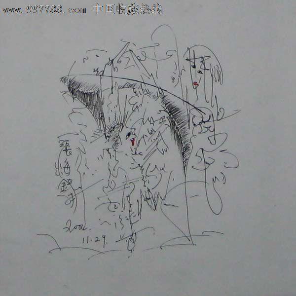 现代钢笔画——人物005