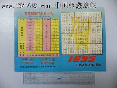 """95年""""邮政储蓄存款利率表""""年历宣传片(珍稀史料,罕见)图片"""