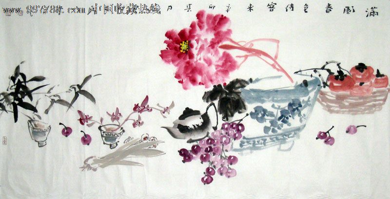 名家牡丹/花鸟图/国画/收藏送礼/装饰精品/21964图片