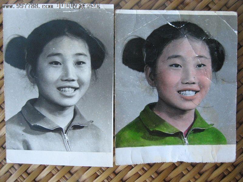 可爱女学生-2张,老照片-->个人照片,老照片,普通人大