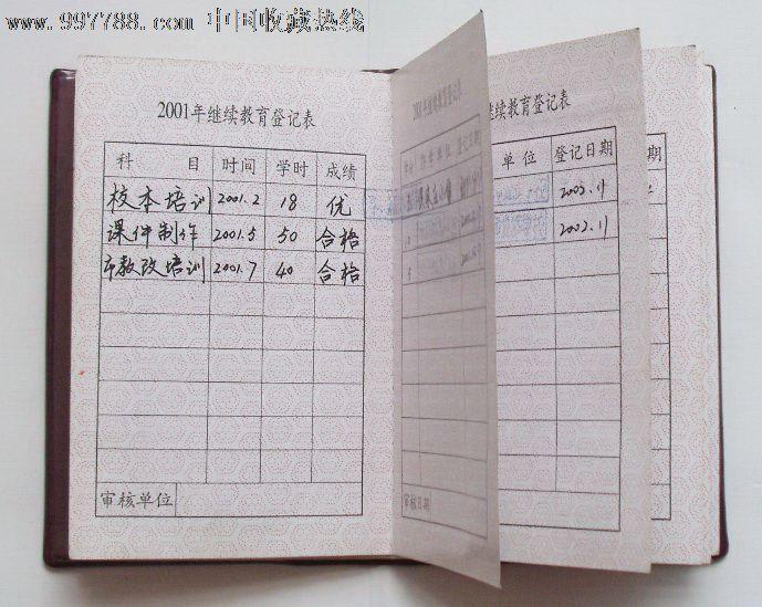 山东省小学教师继续教育证书_职称\/工昨证件_