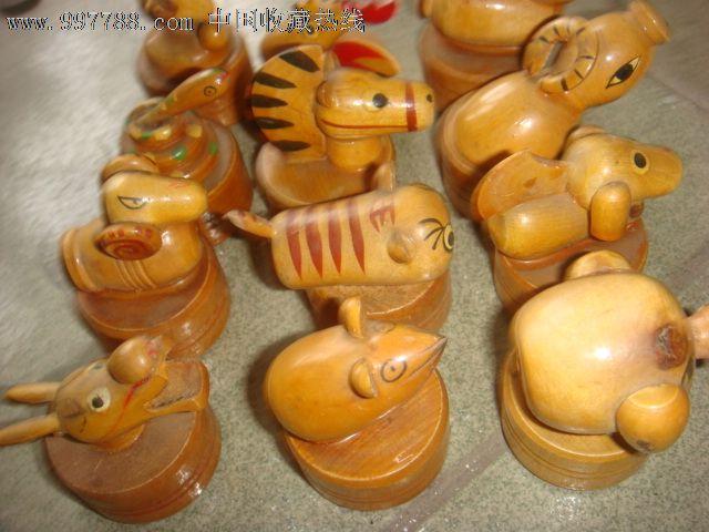木制雕刻12生肖