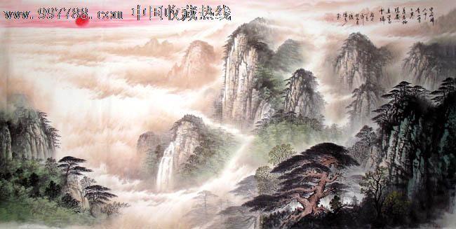 张德泉山水画,空谷归人少,四尺,客厅山水画,收藏佳品