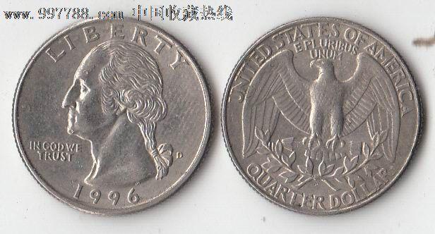美国 25美分 流通硬币图片