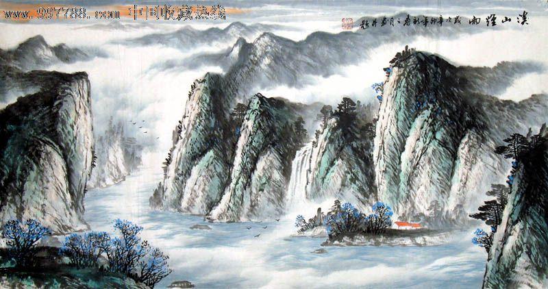孙奎汝/国画/山水画/三尺/溪山烟雨/21505图片