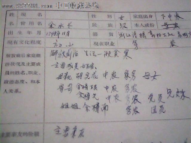 65年中国共产主义青年团入团志愿书和申请书(淳安县余水南)_党员\/团员证明_桐君书院【中国收藏热线】