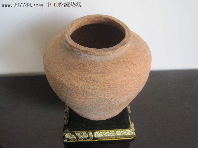 新石器时代红陶素纹罐-价格:200元-se13276501-陶罐