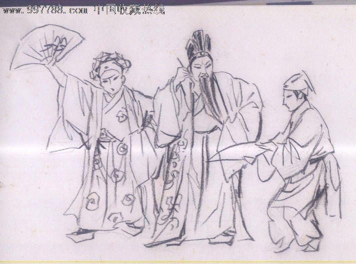 川剧武将手绘图