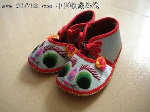 儿童绣花鞋(手工扣子)_价格元_第1张_中国收藏热线