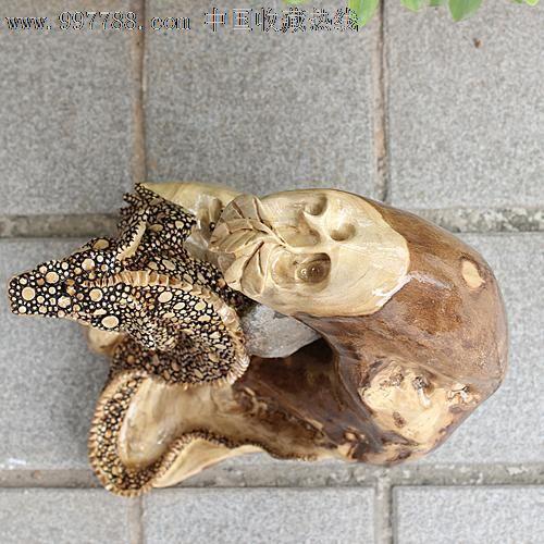 送礼佳品/天然根雕奇石/老糠木根抱石/动物吉祥摆件蜥蜴yw230