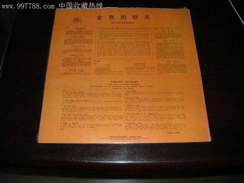 盛中国小提琴独奏---金色的秋天