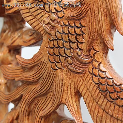 宜居品阁香樟木雕根雕馈赠佳品红樟艺术摆件凤凰于飞ywd248
