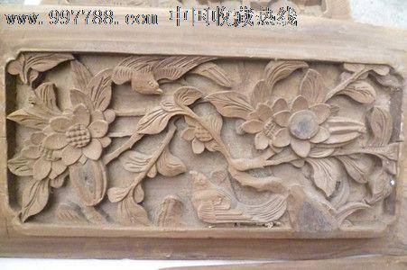 保真清朝时期实木浮雕立体镂空2层工艺花鸟老木房子上