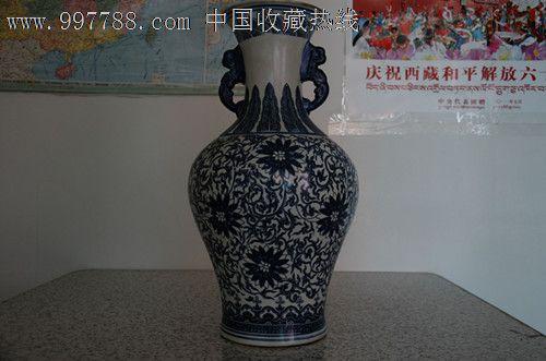 青花瓷花瓶花纹图片;
