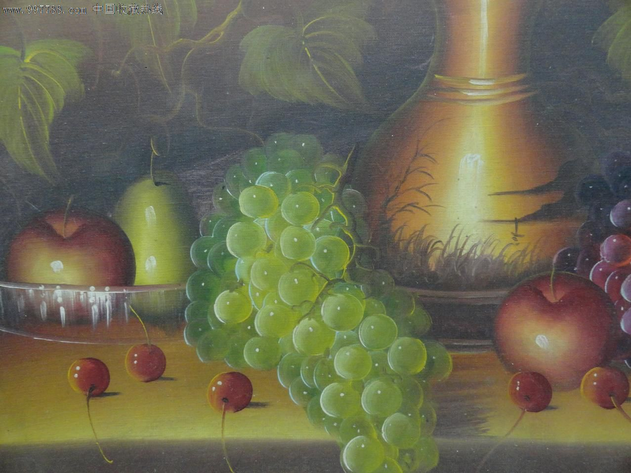 手绘油画--静物葡萄_价格80元_第2张_中国收藏热线