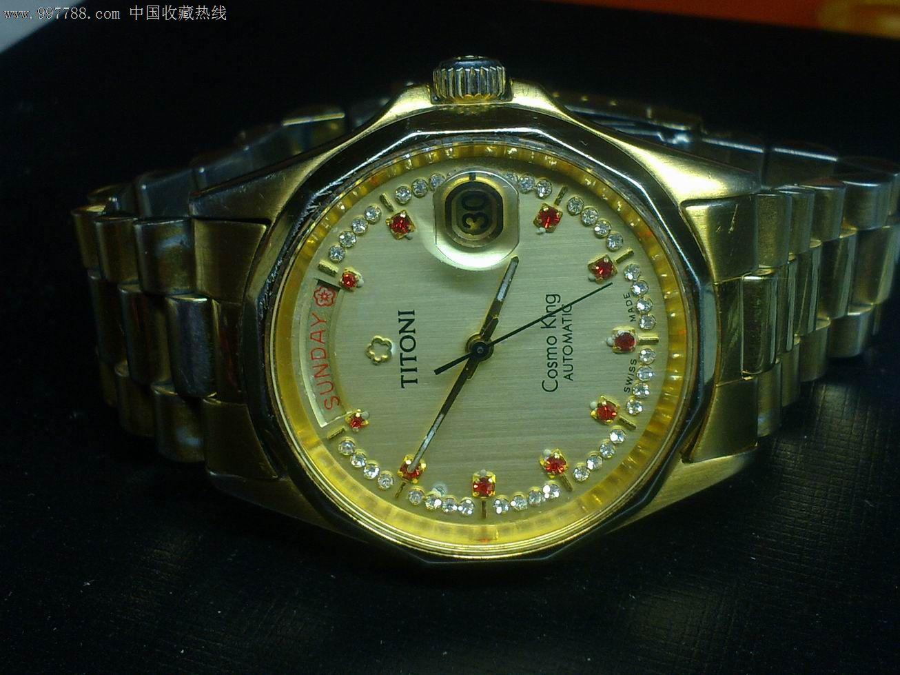 瑞士原装大表径梅花王手表图片