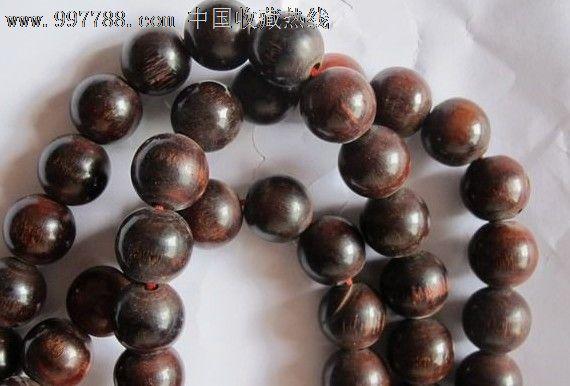 黑檀木佛珠串珠项链