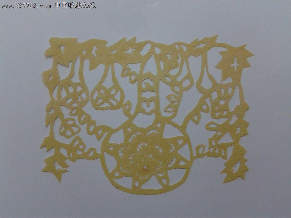 葫芦剪纸_剪纸/窗花_杂货园子【中国收藏热线】