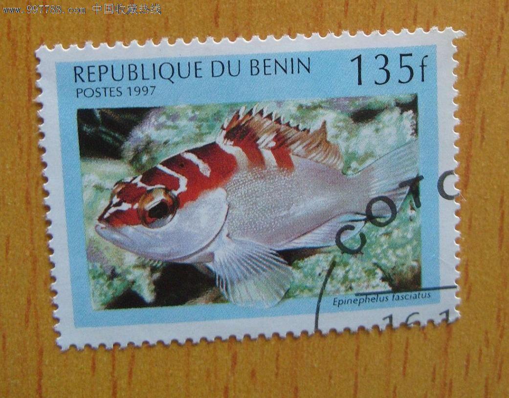 非洲贝宁盖戳邮票-石斑鱼-鱼类邮票-动物邮票【和正堂】_价格4元_第1