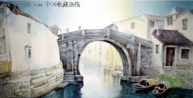 水彩原画-水粉/水彩原画 属性: 水彩原画,,山水,,2000-2009年,,全开