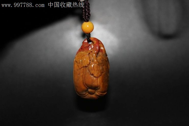 瓜果挂件-寿山石(品种:鹿目石)-寿山石--se1492