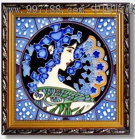 【陶瓷瓷板画人物; 出口欧单欧式风情装饰陶瓷 瓷板 画瓷版画家居装饰