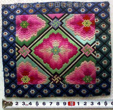 民国满族刺绣 枕头顶1个图片