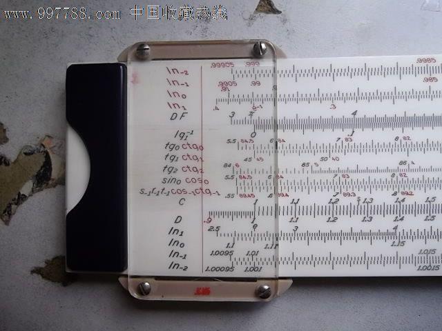电子计算器之前的矢量重对数双面计算尺_计算