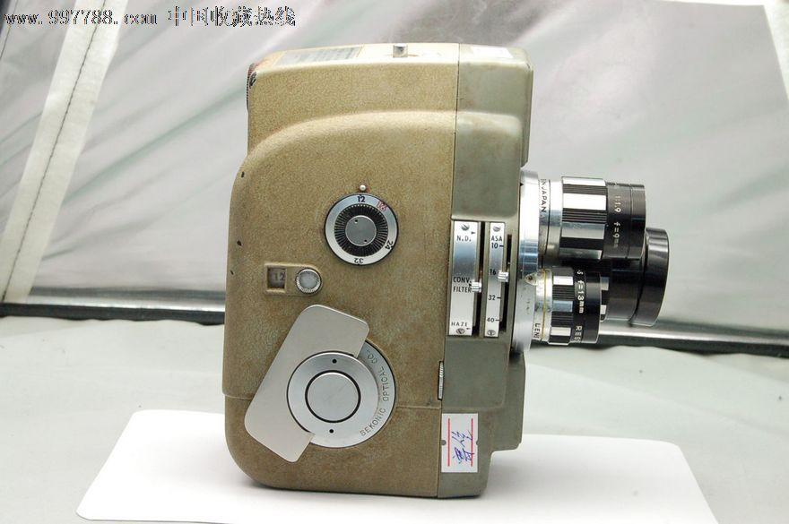 sekonic8mm胶片电影摄像机,三镜头,收藏品,有原厂皮包