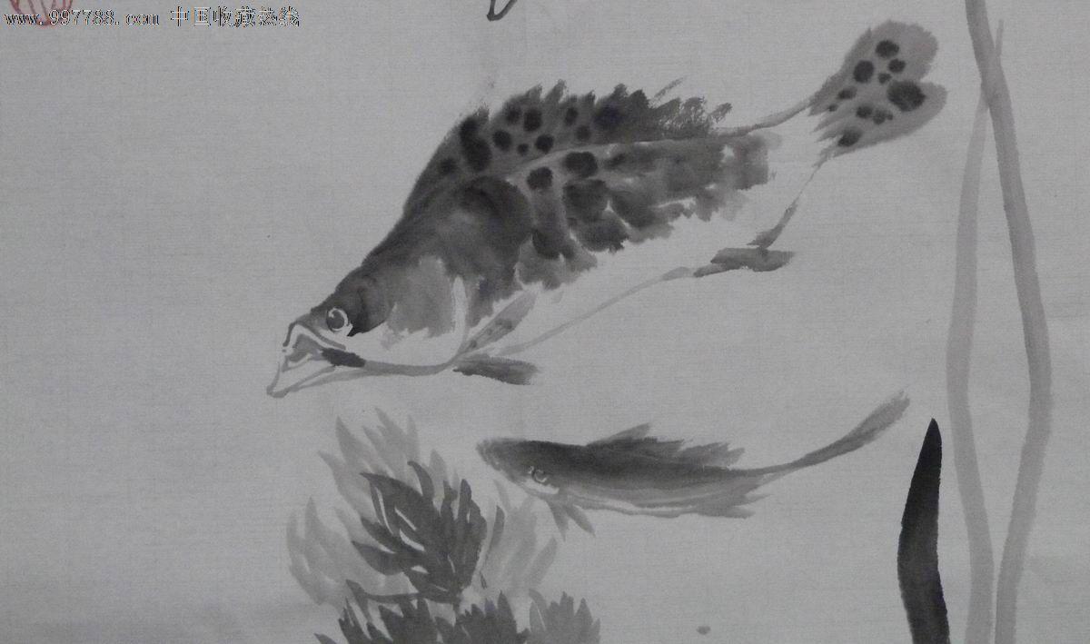 中国画写意虫鱼《鱼乐图》