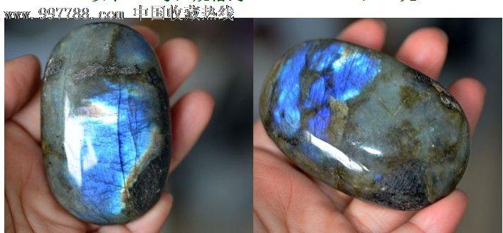 正品月光石原石把玩摆件观赏石蓝光金光388号图片