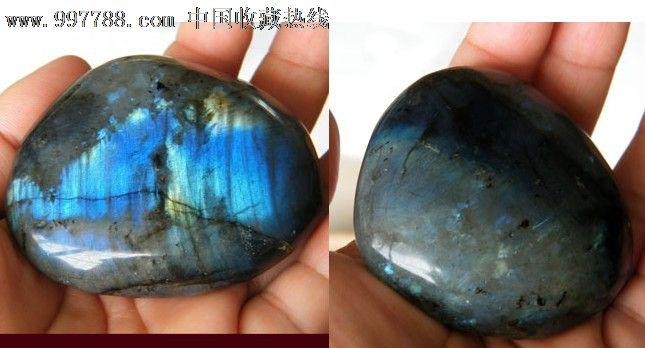 正品月光石原石把玩摆件观赏石蓝光金光116号图片