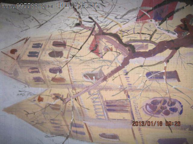 青岛天主教堂水粉画_价格元_第3张_7788收藏__中国收藏热线