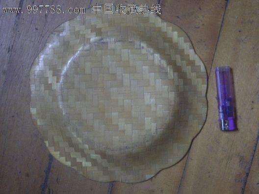 老竹编手绘盘子