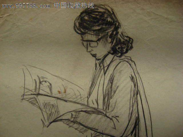 铅笔画真人女