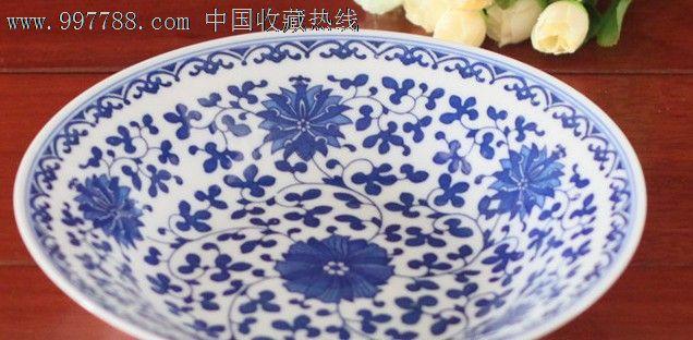 景德镇陶瓷青花瓷盘子餐盘菜盘餐具青花8寸汤盘